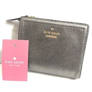 Kate Spade Small Shawn Patterson Dr Pewter Wallet